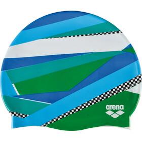 arena Print 2 Gorro de natación, stripes green